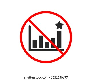 No or Stop. Efficacy icon. Business chart sign. Analysis graph symbol. Prohibited ban stop symbol. No efficacy icon. Vector