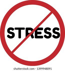 no stress verkeersbord
