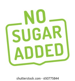 No sugar added badge, logo, icon. Flat vector illustration on white background.