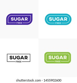 No sugar added product label vector banner.
