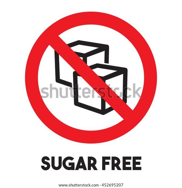 No Sugar free vector icon