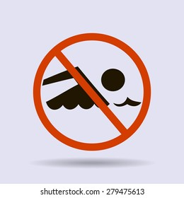 No swimming sign vector