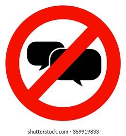 No talking sign.