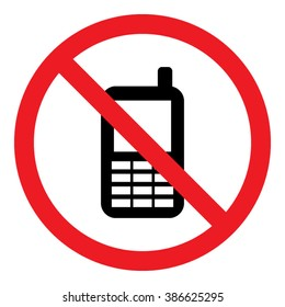 No Telephone Sign Icon Vector Illustration