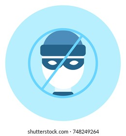 No Theifs House Protection System Icon On Blue Background Vector Illustration
