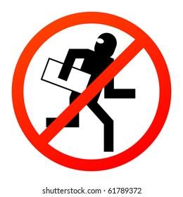No thief sign, vector illustration