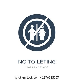 no toileting icon vector on white background, no toileting trendy filled icons from Maps and Flags collection, no toileting vector illustration