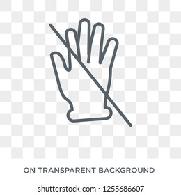 No touch gesture icon. Trendy flat vector No touch gesture icon on transparent background from Hands and guestures collection. High quality filled No touch gesture symbol use for web and mobile