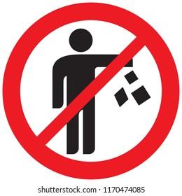 no trash sign (prohibition icon)
