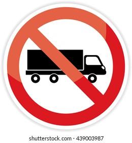 No truck forbidden sign on white background.vector illustration