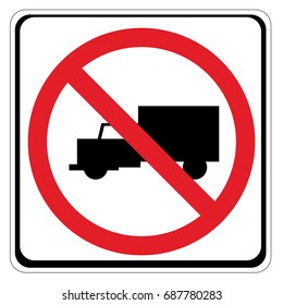 No truck or no parking sign.