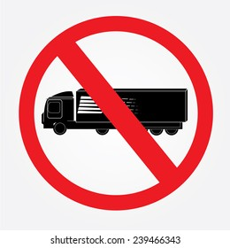 No truck or no parking sign,prohibit sign vector