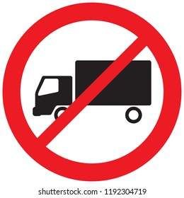 no truck sign (no parking symbol, prohibition icon)