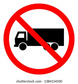 No Truck Symbol Sign, Vector Illustration, Isolate On White Background Icon .EPS10