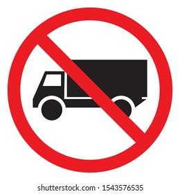 No truck traffic warning symbol vector illustration