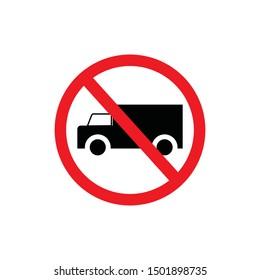 No trucks sign, traffic sign, no parking sign. prohibit sign .vector illustration.