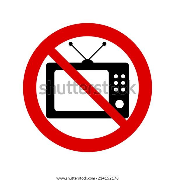 No tv sign
