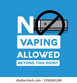 No Vaping Allowed Beyond This Point Sign