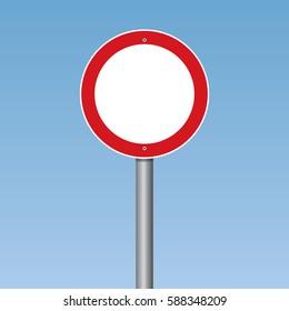 No vehicles Traffic Road Sign Vector Illustration