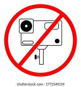 No video camera sign, Video cam not allowed.