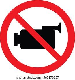 No Video Camera sign Vector