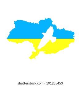 No war. Dove of Peace ukraine. Vector