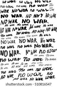 no war lettering