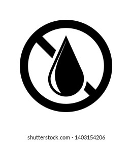 No Water or No Oil Icon. Out of Stock Illustration As A Simple Vector, Trendy Sign & Symbol for Design and Websites, Presentation or Application.