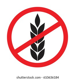 no wheat sign , Gluten Free Symbols With Banned Wheat  Icon ,No Gluten free sign