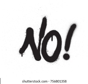 no word graffiti spray font in black on white