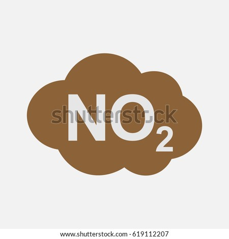 No 2 Icon Nitrogen Dioxide Formula Symbol Stock Vector Royalty Free