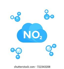 NO2, nitrogen dioxide molecule