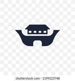 Noah Ark transparent icon. Noah Ark symbol design from Religion collection. Simple element vector illustration on transparent background.