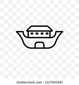 Noah Ark vector linear icon isolated on transparent background, Noah Ark transparency concept can be used for web and mobile