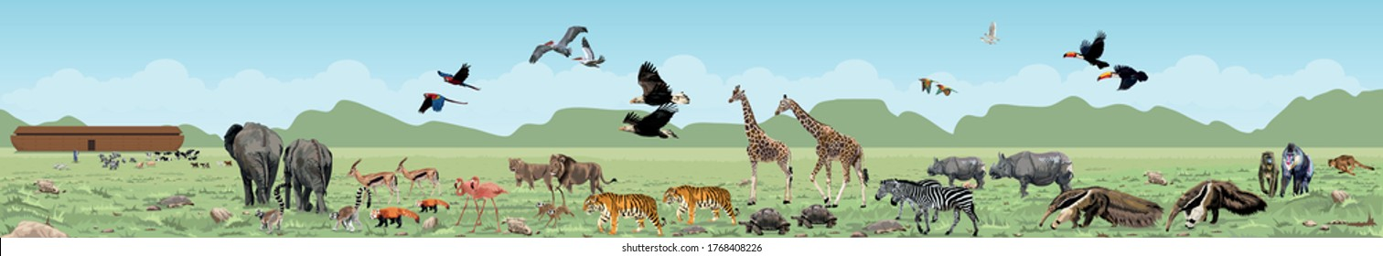 Noah's Ark: The Animals Arrive