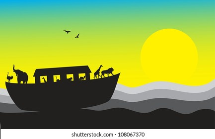 Noah's Ark, bible stories, vector image