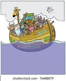 Noah's Ark cartoon.