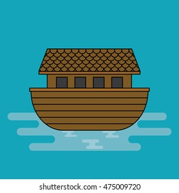 Noah's ark, Cartoon vector.