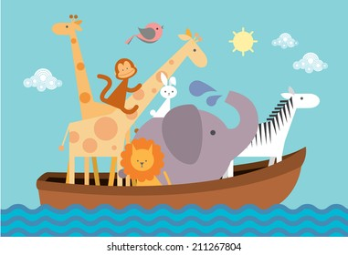 Noah's ark vector/illustration
