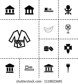 Nobody icon. collection of 13 nobody filled and outline icons such as barber brush, office chair, luggage scan, soft box, bank. editable nobody icons for web and mobile.