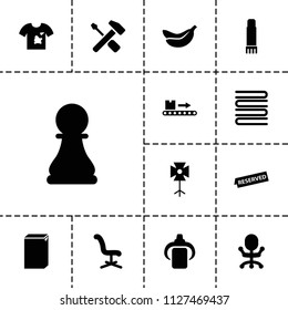 Nobody icon. collection of 13 nobody filled icons such as washing machine, office chair, luggage scan, glue pen, soft box, reserved. editable nobody icons for web and mobile.