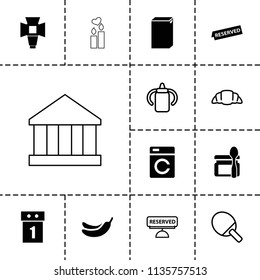 Nobody icon. collection of 13 nobody filled and outline icons such as washing machine, banana, washing machine on sale, soft box. editable nobody icons for web and mobile.