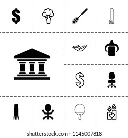 Nobody icon. collection of 13 nobody filled and outline icons such as toilet brush, dollar, office chair, glue pen, cauliflower. editable nobody icons for web and mobile.