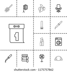 Nobody icon. collection of 13 nobody outline icons such as washing machine, baby food, pipette, soft box, office chair, toilet brush. editable nobody icons for web and mobile.