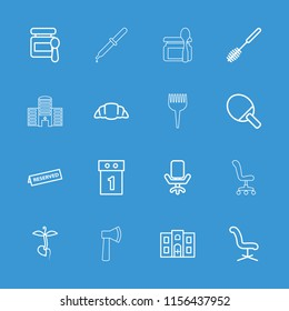 Nobody icon. collection of 16 nobody outline icons such as baby food, toilet brush, office chair, washing machine on sale, croissant. editable nobody icons for web and mobile.