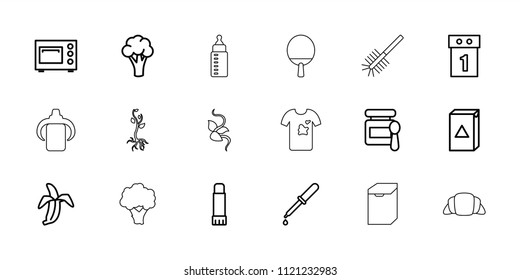 Nobody icon. collection of 18 nobody outline icons such as cauliflower, baby food, washing machine, washing machine on sale, pipette. editable nobody icons for web and mobile.