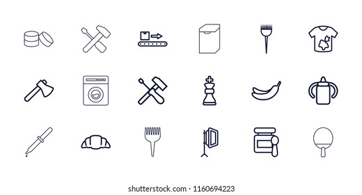 Nobody icon. collection of 18 nobody outline icons such as baby bottle, baby food, barber brush, banana, dirty laundry, axe. editable nobody icons for web and mobile.