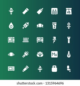 nobody icon set. Collection of 25 filled nobody icons included Water, Kettlebell, Torch, Flashlight, Microwave, Pizza cutter, Muse, Croissant, Piece, Finger, Paper bag, Minibar