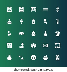 nobody icon set. Collection of 25 filled nobody icons included Finger, Porridge, Water, Watering, Kettlebell, Wire, Microwave, Croissant, Minibar, Sand, Pizza cutter, Torch, Paper bag