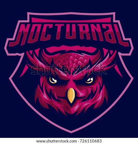 Image of: Freelancer Nocturnal Bird Owl Mascot Logo For Sport Team Or Game Shutterstock Nocturnal Bird Owl Mascot Logo Sport Stock Vector royalty Free
